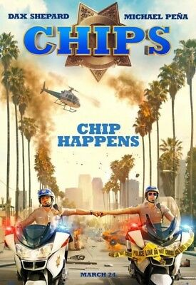 Dax Shepard CHIPS Authentic 27x40 D/S Rolled Movie Poster.