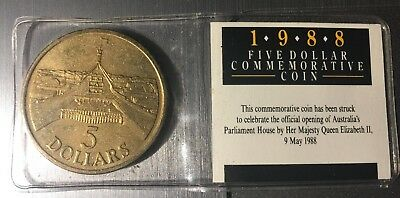 1988 $5 Australia's Parliament House Opening Commemorative Coin
