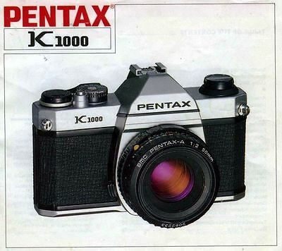 pentax k1000 camera instruction manual guide 7212082 genuine rh picclick com pentax k1000 service manual pdf Photography Pentax K1000
