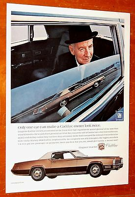 1968 Cadillac Eldorado Ad With Boss In Limousine + Vintage I.w. Harper Bourbon