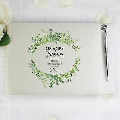 Personalised Fresh Botanical Guest Book Pen Wedding Anniversary Gift Women  Men 6f232d435a