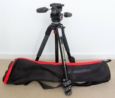 Manfrotto MT190XPRO4 tripod, fluid drag upgraded 804RC2, Manfrotto MBAG75N.