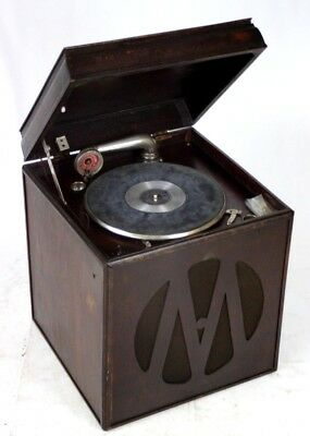 Antique EXTRA SONORE CONCERT Wind up Gramophone Swiss Made [PL4520]