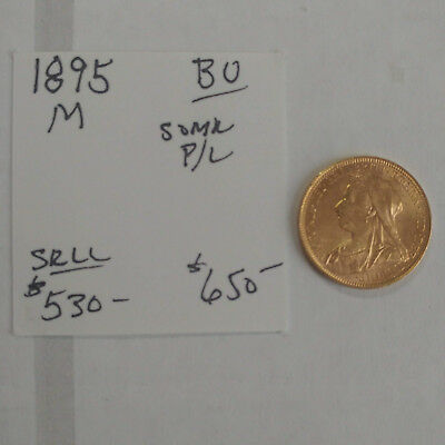 1895-M Australia Gold Sovereign - Old Head - High Grade - Free Shipping