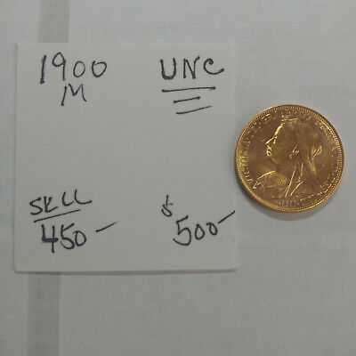 1900-M Gold Sovereign - Old Head - UNC - Free Shipping #2