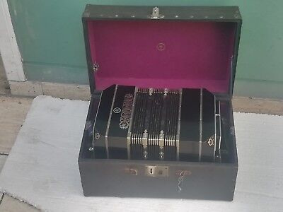 Old And Original Bandoneon By Alfred Arnold Very Good Condition With His Case