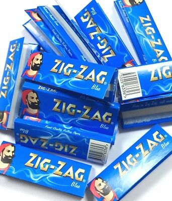 1000 Zig Zag Blue Regular Rolling Papers 20 Bookletsx 50 Papers Each Booklet Uk