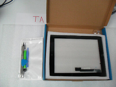 New Touch Screen Glass Digitizer Replacement + Adhesive for iPad 4 + Tools Black