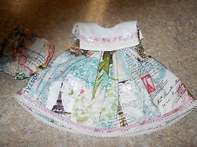 "Vintage Chatty Cathy 18-20"" New Handmade W/love 2 Pc. Paris & Floral Outfit"