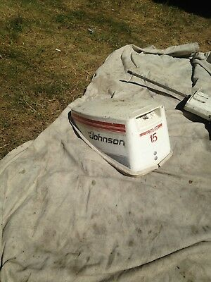 Vintage Johnson  15Hp Seahorse Upper Top Cover Cowling Outboard Hood! 1977