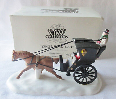 Dept 56 Heritage Dickens Village Accessory #55816 Kings Road Cab