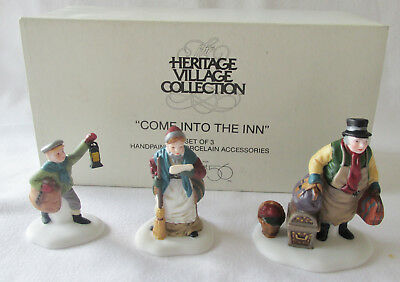 Dept 56 Heritage Dickens Village Accessory #55603 Come Into The Inn