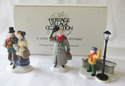 "Dept 56 Heritage Dickens Village Accessory # 55883 ""A Christmas Carol Morning"""