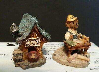 2 Boyds Bear Wunnerful Village Accessory Matthew's Bungalow Indy's Duggery House