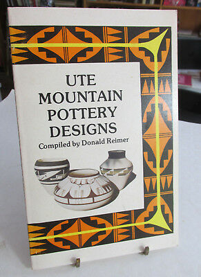 UTE Mountain Pottery Designs By Donald Reimer, 1977, Sleeping Ute Mountain lands