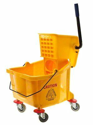 Lavex Janitorial Yellow 36 Quart Mop Bucket & Wringer Combo