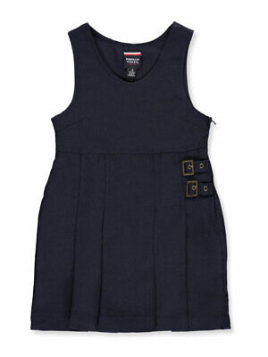 French Toast Little Girls' Double Buckle Tab Jumper (Sizes 4 - 6X)