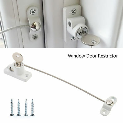 3/5/8X Window Door Restrictor Child Baby Safety Security Locking Cable Wire Lock