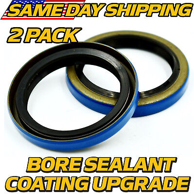 """Oil and Grease Seal 0.591/""""x 1.378/""""x 0.236/"""" Inch Rubber Covered Double Lip w//Gart"""