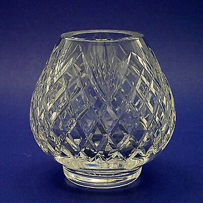 "Tyrone Crystal 'Antrim' Pattern Footed Bowl or Vase - 14cm/5.5"" High"