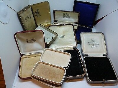 Qty Antique Empty Jewellery Boxes