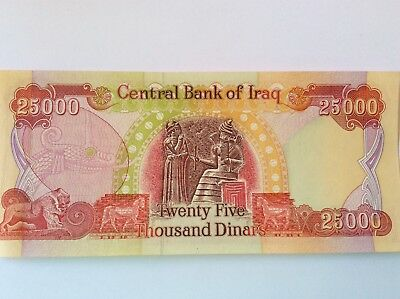 Iraqi Dinar(s) (40) 25,000 Notes from 2003