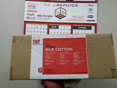 New Old Stock Baseline 4x4 Cotton Pads 8 Rolls 100 Pads Each Case Discontinued