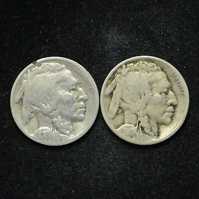 1919-D Buffalo Nickel 2-Pc Lot (bb1389)