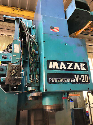 "MAZAK V-20 POWERCENTER 3 Axis CAT50 Vertical CNC Mill, X-102"" Y-32"" Z-30"""