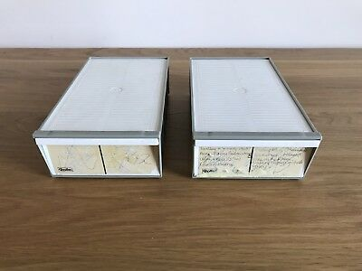 2 - Leitz Slide Storage Containers Each Containing Two Size 36 Slide Magazines