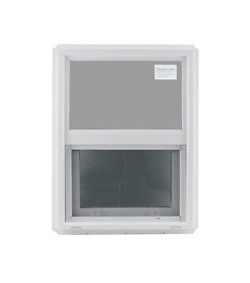 "Double Pane Window 18"" x 24"" Tempered Glass Low-E PVC Frame"