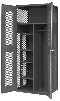 """Durham EMDC-362484-HDL-95, Janitorial Cabinet with 5 Shelves, 24'L x 36""""W x 84""""H"""