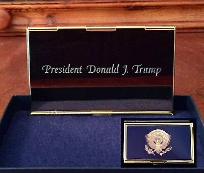 President Donald J. Trump Resolute Eagle Business Card Case - E Pluribus Unum