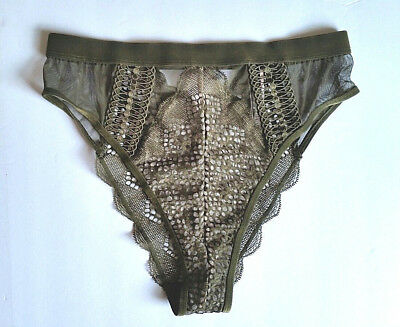 VICTORIA S SECRET CHEEKY Panties Floral Lace Waist   Glitter NWT ... fcdd19ff0