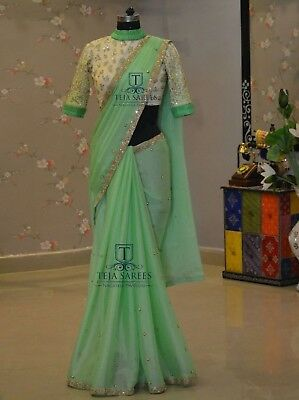 Bollywood Rangoli Silk Style Saree Party Wear Saree and Casual Wear For Women