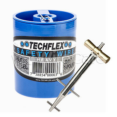 """Clamptite Kit- CLT01- 4 3/4"""" Stainless Steel Tool & 1 LB of Can .041 Safety Wire"""