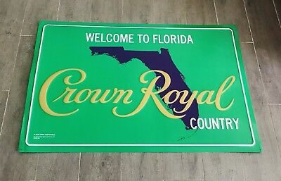 "crown royal ""welcome to florida country"" tin sign 36"" * 24"" Crown Apple"