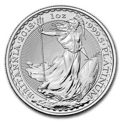 2018 Great Britain 1 oz Platinum Britannia BU - SKU #161774