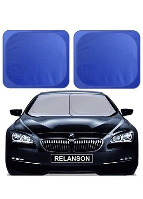 "Car Windshield Sunshade, 2 Pieces of Separate Foldable 35""x31"" Car Sun Shade NEW"