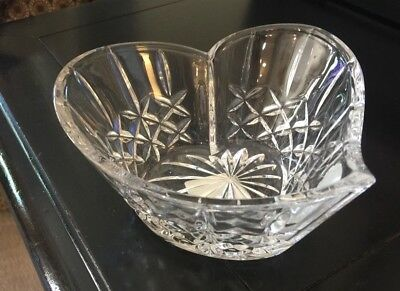 Waterford Sweetheart (Heart Shaped) Bowl / Candy Dish MINT Condition