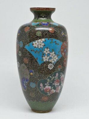 Antique Japanese Cloisonne Vase ~ 6.75 inches tall  ~