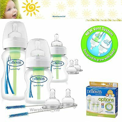 Dr Brown's Options Wide Neck Starter Kit Anti Colic