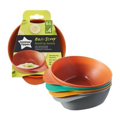 Tommee Tippee   Explora Easy Scoop Feeding Bowls x4 7m+ Brand New