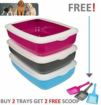 Animal Instincts Cat Kitten Plastic Open Corner Standard Litter Tray Rim / Scoop
