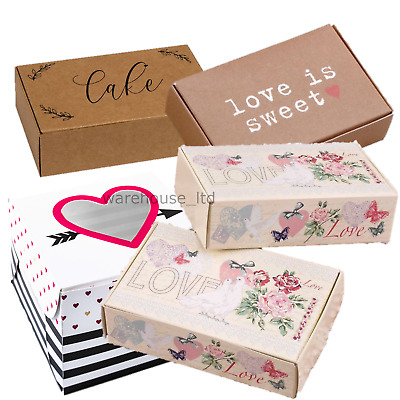 10 Cake Slice Boxes Wedding Party Favours Contemporary Vintage Choose Design