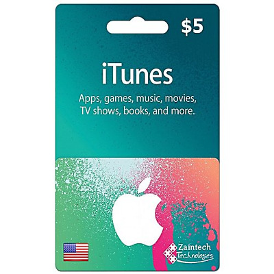 Apple iTunes $5 Gift Card (USA)