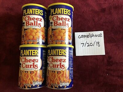 Planters Cheez Balls/Curls 2.75 Ounce 4 Ounce. 4 CANS IN HAND, READY TO SHIP!!!