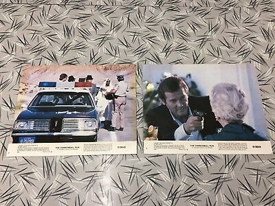 The Cannonball Run  Original Issue 8x10 Lobby Card Set Of 2 Roger Moore