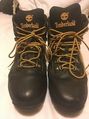 TIMBERLAND MENS 13M Black Gold Hiking Boots Very Nice Pre