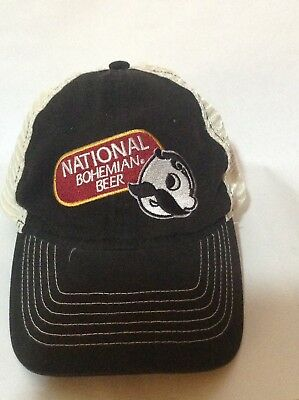 85891f608e67f VINTAGE National Bohemian BOH Baltimore Beer TRUCKER Snapback Cap Baseball  Hat